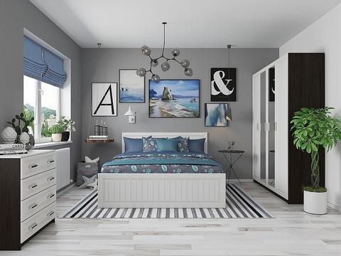 Спальня Прага-02 Браво Мебель венге, белый