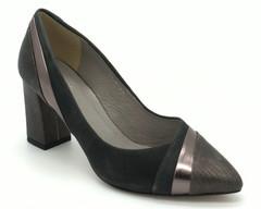 Серые кожаные туфли