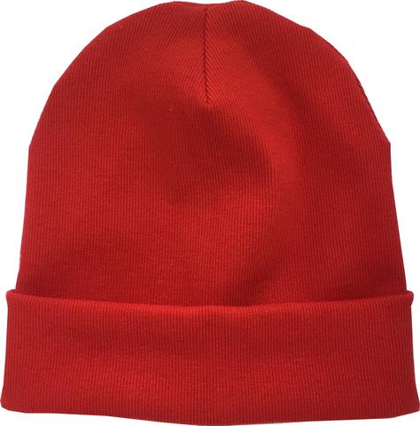 Красная шапочка бини из хлопкового трикотажа