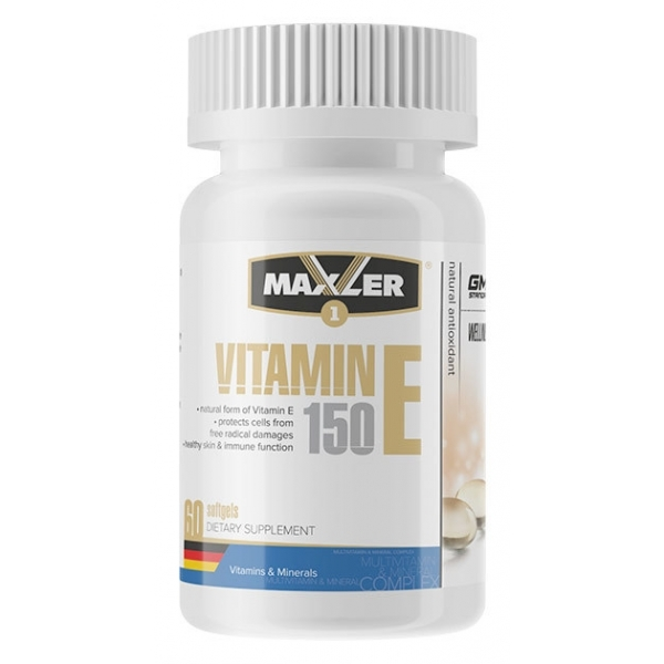 Vitamin E Natural form 150mg 60 капс