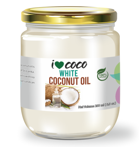 Масло кокосовое холодного отжима ILOVECOCO, органика Белое (с мякотью кокоса), 200 мл