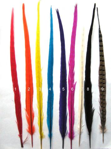 Перо фазана ,  длина ок. 45-50 см. (выбрать цвет)