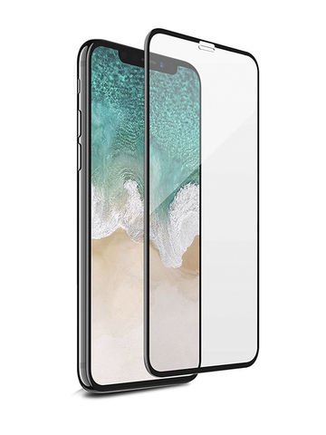 Защитное стекло для iPhone X/XS/11 Pro (Black)