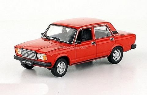 VAZ-2107 Lada 1983-2012 red 1:43 DeAgostini Auto Legends USSR #262