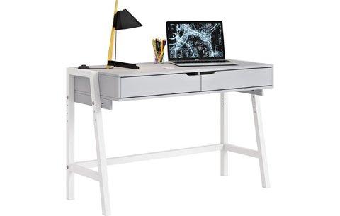 Стол письменный Polini kids Mirum 1440 низкий, серый-белый