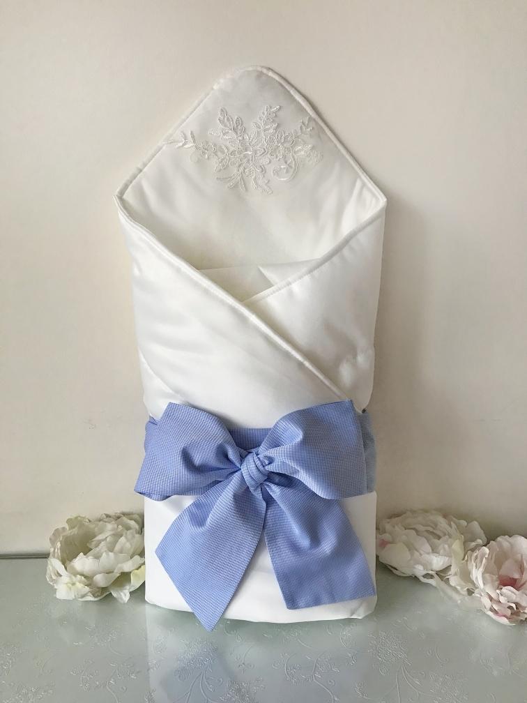 Конверт-одеяло (молочный, лазурный).