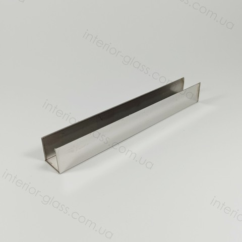 Профиль (швеллер) нержавеющий 15x13x15 мм, L=3 м ST-502-10 PSS полированный