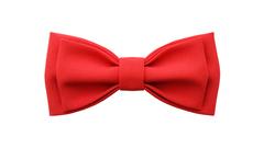Однотонный галстук - бабочка (красный)