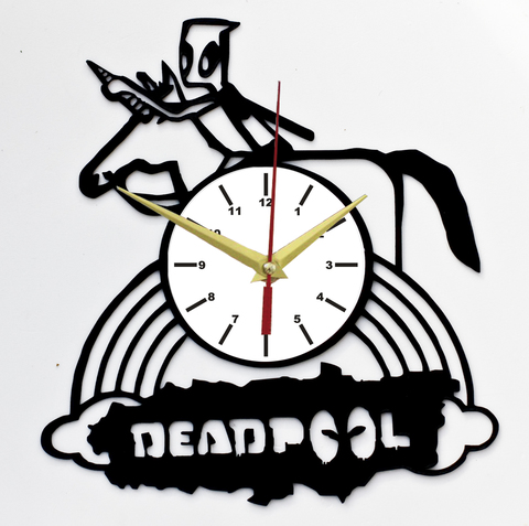 Дэдпул Часы из Пластинки — Единорог
