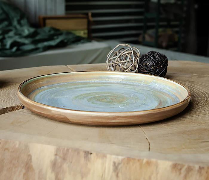 PLATE101 Керамический поднос ручной работы в глазури фото 03