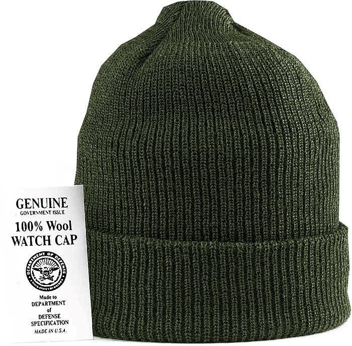 Шапка - GENUINE Watch Cap Wool (оливковая)