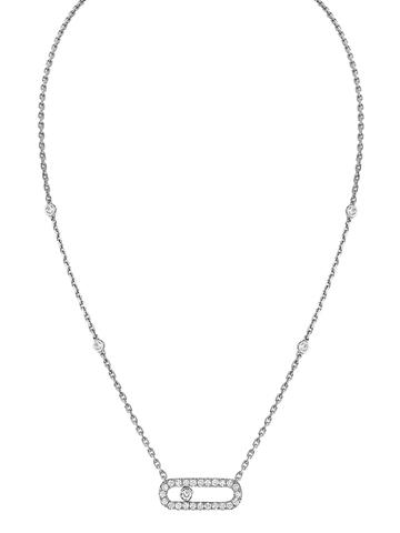94096- Колье Move из серебра с продольной подвеской с двигающимся цирконом