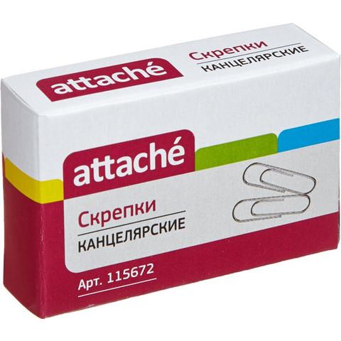 Скрепки Attache металлические оцинкованные 28 мм (100 штук в упаковке)