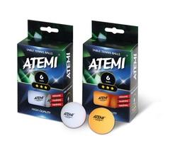 Мячи ATEMI 3* (6 шт.)