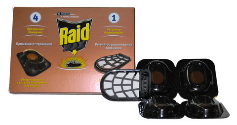 Ловушки от тараканов Raid Max 4 шт