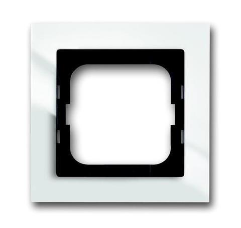 Рамка на 1 пост. Цвет Белый глянцевый. ABB(АББ). Axcent(Акcент). 1754-0-4331