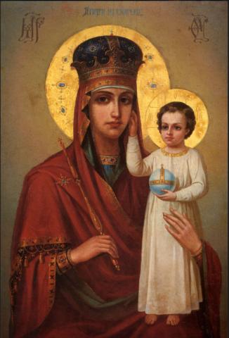 Икона Божией Матери Призри на смирение на дереве на левкасе мастерская Иконный Дом