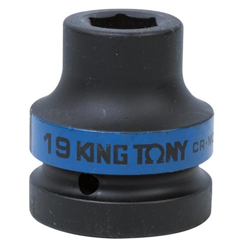 KING TONY (853519M) Головка торцевая ударная шестигранная 1