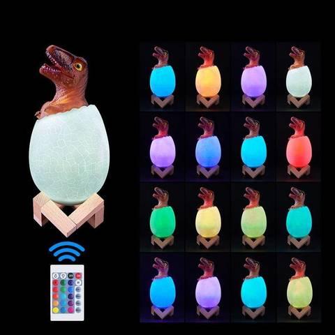 Светильник - ночник Динозаврик в яйце Трицератопс