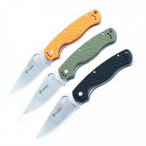 Нож Ganzo G7301 (черный, оранжевый, зеленый)