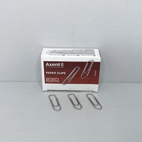 Скрепки Axent 28 мм (100 шт.)