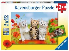 Puzzle Kitten Adventures 2x12 pcs