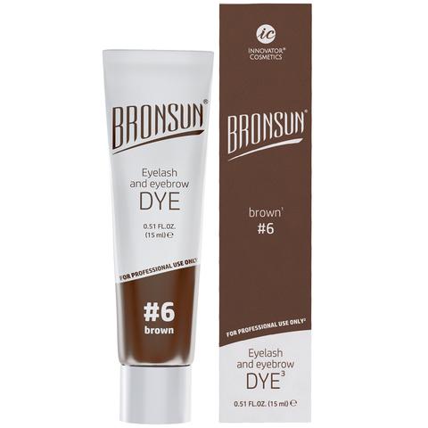 Краска для ресниц и бровей BRONSUN, цвет коричневый #6, 15мл