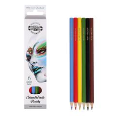 Карандаши цветные FANTASY 3551, 6 цветов