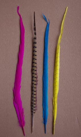 Перо фазана ,  длина ок. 40-50 см. (выбрать цвет) Уценка.