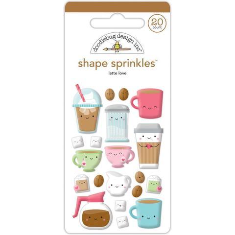 Паф-стикеры Doodlebug Sprinkles Adhesive Glossy Enamel Shapes