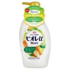 Гель для душа Kao Biore с низким ph уровнем и ароматом бодрящего цитруса 480 мл