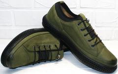 Осенние сникерсы туфли под джинсы мужские Luciano Bellini C2801 Nb Khaki.