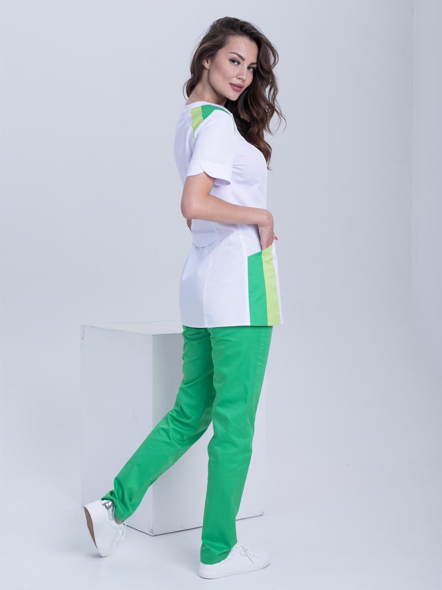 Закажите женские медицинские брюки Б110 сатори зеленый