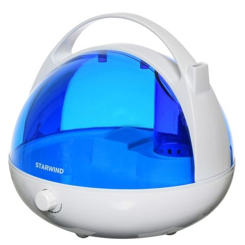 Увлажнитель воздуха Starwind SHC2416 25Вт (ультразвуковой) белый/синий