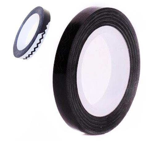 Лента зигзаг на липкой основе для дизайна ногтей черная купить за 140руб