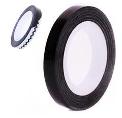 Лента зигзаг на липкой основе для дизайна ногтей черная