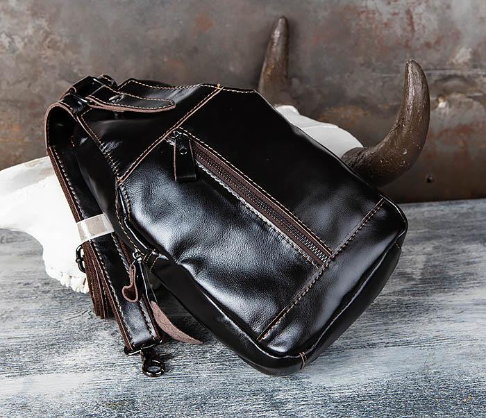 BAG449-1 Рюкзак из натуральной кожи с одной лямкой через плечо фото 04