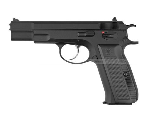 Страйкбольный пистолет CZ75, грин-газ, черный (KJW)