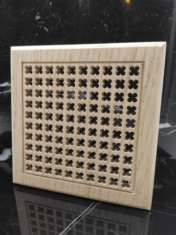 Решетка декоративная деревянная на магнитах Пересвет К-04 150х150мм