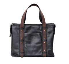 Портфель-сумка кожаный