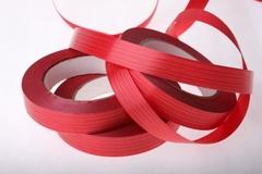 Лента простая (2см*50м) Итальянское тиснение Красная