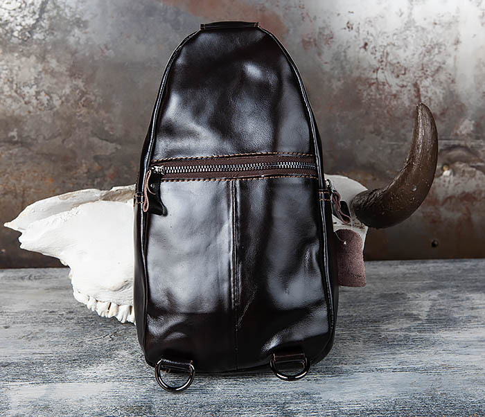 BAG449-1 Рюкзак из натуральной кожи с одной лямкой через плечо фото 05