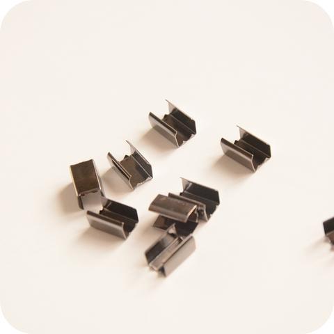 Зажим соединитель 10*6 *мм, темное серебро