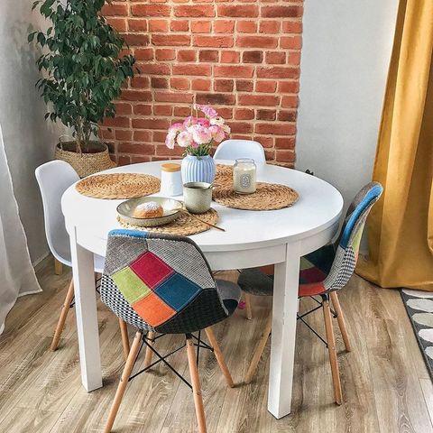 Интерьерный кухонный стул Eamеs Patchwork Multucolor / Ткань