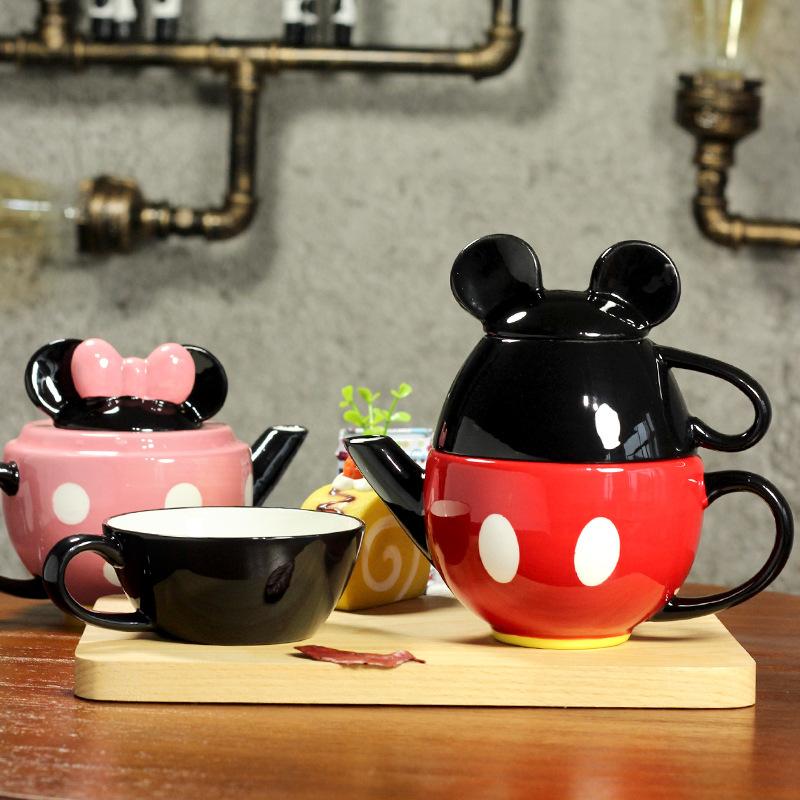 Дисней Набор керамической посуды Микки и Минни Маус
