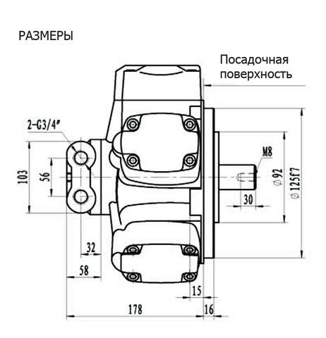 Гидромотор IPM1-50