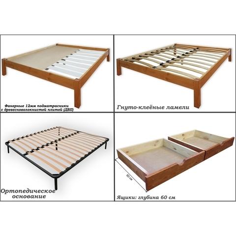 Кровать Шале Флора с основанием