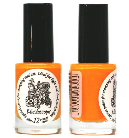 Kaleidoscope Лак для стемпинга №stm-12 Orange neon 9 мл
