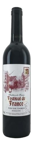 Вино Фестиваль де Франс столовое красное сухое 0,7 л