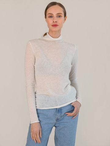 Женский джемпер молочного цвета из 100% шерсти - фото 2